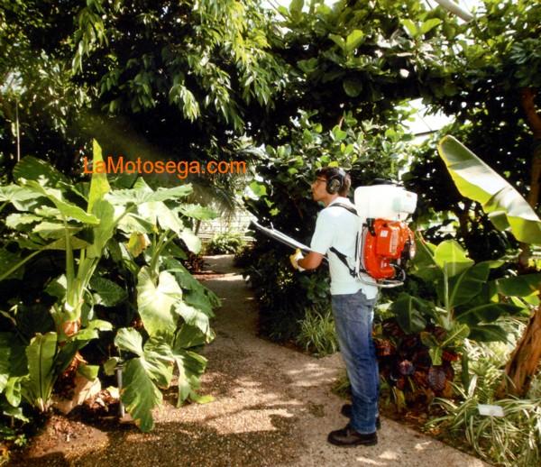 Atomizzatori spalleggiati professionali per la for Piccole piantagioni